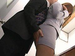 Haruki Sato gets fucked in her husband´s office