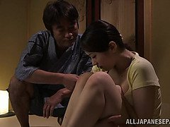 Hot Asian milf Asami Nanase gives a face fucking