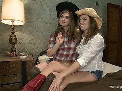 Stiff Competition Ts Tiffany Star Fucks the Living Cow Girl Hell out of A Hot Southern Girl