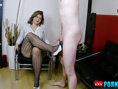 Mistress Lucrecia and CBT punishment for her slave