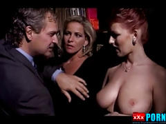 Mature Couple Sharing Busty Redhead Lady...(Vintage)