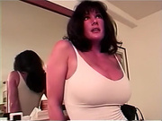 Magnificent busty black brown cougar can't live out of anal sex on web camera