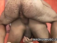 Hairy DILF fucking some ass
