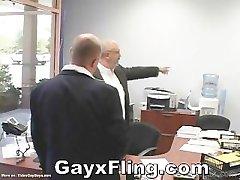 Gay Bear Couple Hardcore In Office