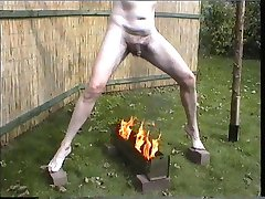 Naked Male Slave tortured outdoor in humilating exposure