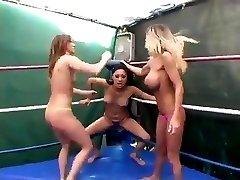 Three Pussy Twisting Nasty Women Wrestling WF