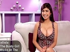 Beautiful and busty Lebanese-American newbie interviewed