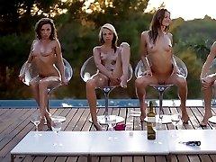 Skinny Teens at Pool