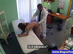 Sexy patient eaten out by horny doctor