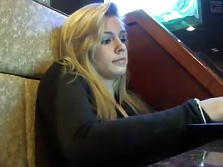 Hot Blonde Public Teasing