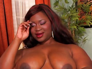 sexy black BBW takes white cock