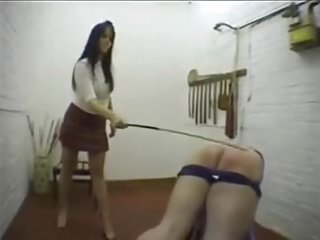 Caning for a bad boy