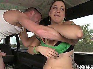 Hot MILF sucks some dick in public