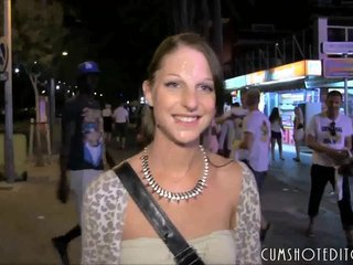 German Brunette Amateur Spermwalk In Mallor