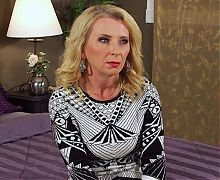 sexy blonde MILF goes to porn