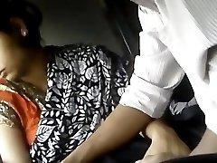 College girl in train hot sence