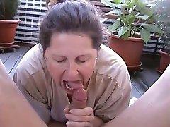 sexy mature amateur lady fucking on balcony